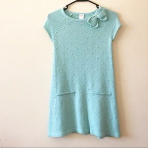 Gymboree| Light Blue Sweater Dress w/ Bow